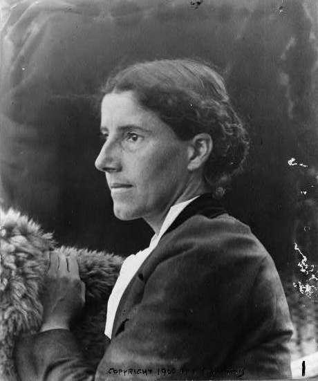 Charlotte Perkins Gilman around 1900 (public domain image on Wikimedia Commons)