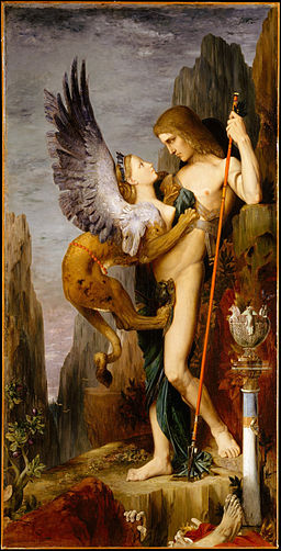 Gustave Moreau, Oedipus and the Sphinx (1864)
